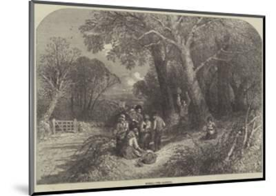 Spring, the Country-Myles Birket Foster-Mounted Giclee Print
