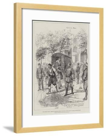 The Turkish Crisis, Armenian Prisoners Arriving for Trial at the Courts of Justice, Constantinople-Melton Prior-Framed Giclee Print
