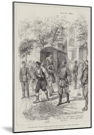 The Turkish Crisis, Armenian Prisoners Arriving for Trial at the Courts of Justice, Constantinople-Melton Prior-Mounted Giclee Print