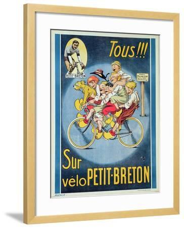 Everyone on the Petit-Breton Bike', Advertisement for a Bicycle-Michel Liebeaux-Framed Giclee Print