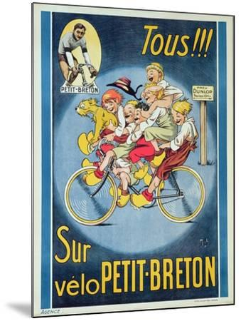 Everyone on the Petit-Breton Bike', Advertisement for a Bicycle-Michel Liebeaux-Mounted Giclee Print