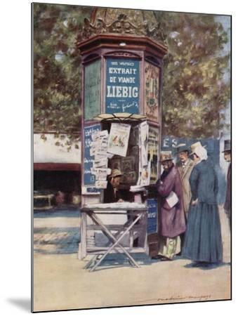 A Kiosque, Paris-Mortimer Ludington Menpes-Mounted Giclee Print