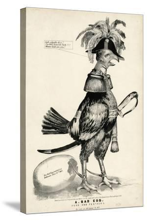 A Bad Egg, Fuss and Feathers, 1852-Nathaniel Currier-Stretched Canvas Print
