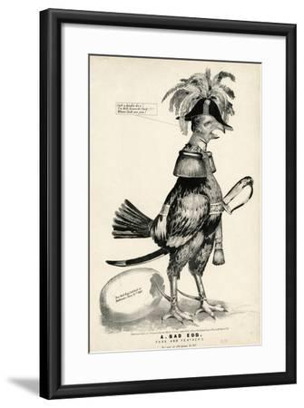 A Bad Egg, Fuss and Feathers, 1852-Nathaniel Currier-Framed Giclee Print