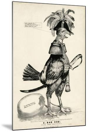 A Bad Egg, Fuss and Feathers, 1852-Nathaniel Currier-Mounted Giclee Print