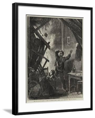 The Civil War in France, a Shell at Suresnes-Matthew White Ridley-Framed Giclee Print