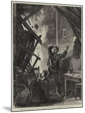 The Civil War in France, a Shell at Suresnes-Matthew White Ridley-Mounted Giclee Print
