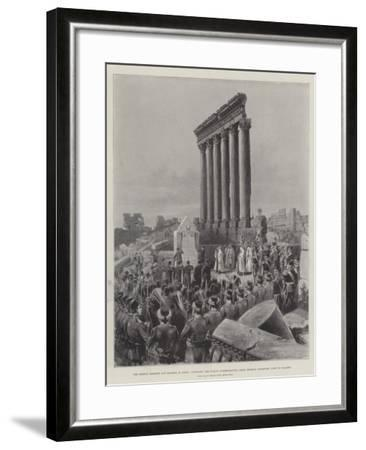 The German Emperor and Empress in Syria-Melton Prior-Framed Giclee Print