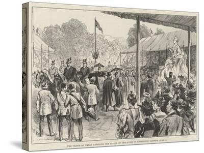 The Prince of Wales Unveiling the Statue of the Queen in Kensington Gardens, 28 June-Melton Prior-Stretched Canvas Print