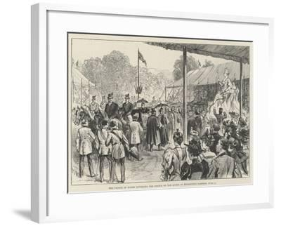 The Prince of Wales Unveiling the Statue of the Queen in Kensington Gardens, 28 June-Melton Prior-Framed Giclee Print