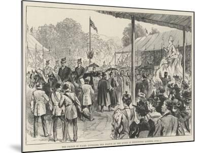 The Prince of Wales Unveiling the Statue of the Queen in Kensington Gardens, 28 June-Melton Prior-Mounted Giclee Print