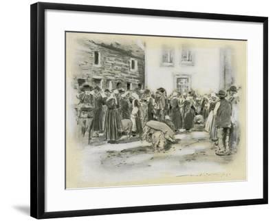 Pig Market-Mortimer Ludington Menpes-Framed Giclee Print