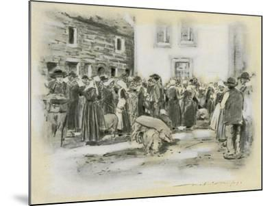Pig Market-Mortimer Ludington Menpes-Mounted Giclee Print