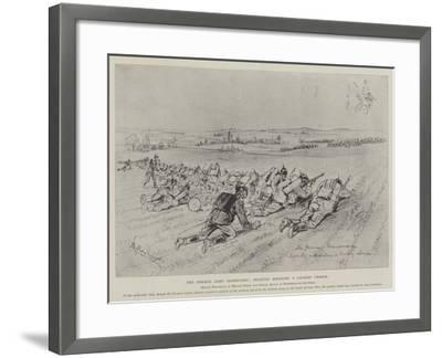 The German Army Manoeuvres, Infantry Resisting a Cavalry Charge-Melton Prior-Framed Giclee Print