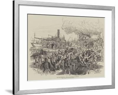 The Nile Expedition, Arrival of Post-Boat at Assouan-Melton Prior-Framed Giclee Print