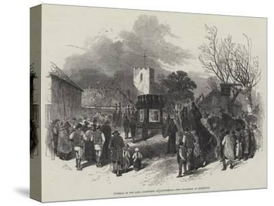 Funeral of the Late Archbishop of Canterbury, the Procession at Addington-Myles Birket Foster-Stretched Canvas Print