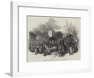 Funeral of the Late Archbishop of Canterbury, the Procession at Addington-Myles Birket Foster-Framed Giclee Print