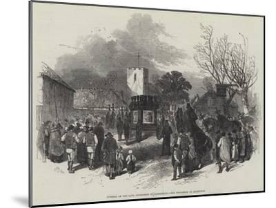 Funeral of the Late Archbishop of Canterbury, the Procession at Addington-Myles Birket Foster-Mounted Giclee Print