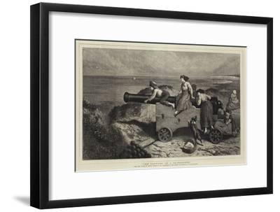 The Capture of a 32-Pounder-Myles Birket Foster-Framed Giclee Print