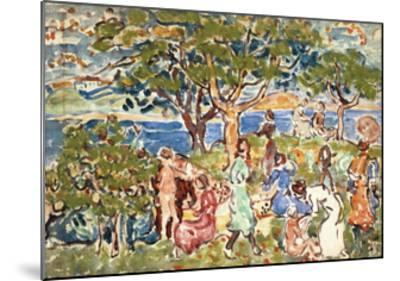 The Picnic, C.1912-15-Maurice Brazil Prendergast-Mounted Giclee Print
