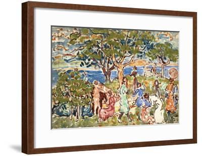 The Picnic, C.1912-15-Maurice Brazil Prendergast-Framed Giclee Print