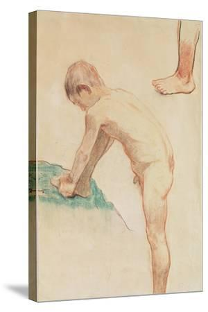 Study of a Boy and a Foot, 1888-Paul Gauguin-Stretched Canvas Print