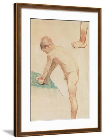 Study of a Boy and a Foot, 1888-Paul Gauguin-Framed Giclee Print