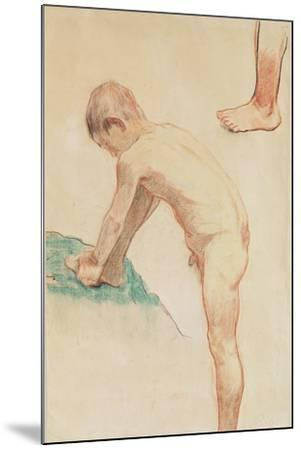 Study of a Boy and a Foot, 1888-Paul Gauguin-Mounted Giclee Print