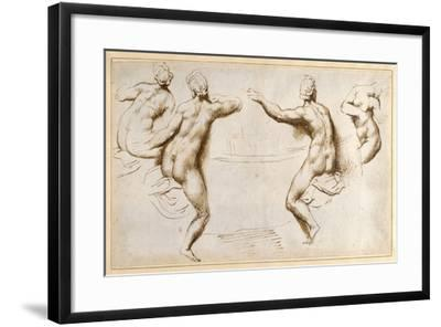 Four Female Nudes Round a Basin-Peter Paul Rubens-Framed Giclee Print
