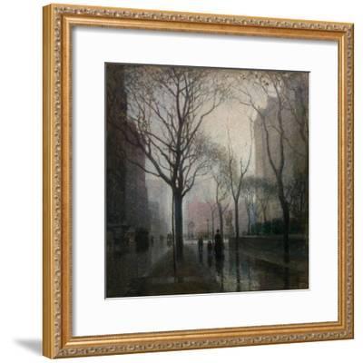 The Plaza after the Rain, 1908-Paul Cornoyer-Framed Giclee Print