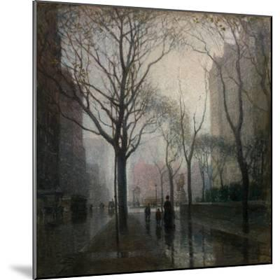 The Plaza after the Rain, 1908-Paul Cornoyer-Mounted Giclee Print
