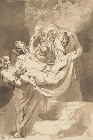 Deposition of Christ in Tomb, 1615-17-Peter Paul Rubens-Stretched Canvas Print