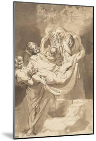 Deposition of Christ in Tomb, 1615-17-Peter Paul Rubens-Mounted Giclee Print