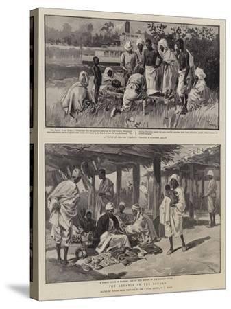 The Advance in the Soudan-Oswaldo Tofani-Stretched Canvas Print