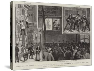Election of General Boulanger as Member of the Chamber of Deputies for Paris-Paul Destez-Stretched Canvas Print