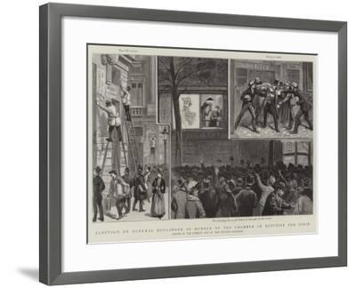 Election of General Boulanger as Member of the Chamber of Deputies for Paris-Paul Destez-Framed Giclee Print