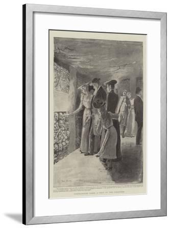 Underground Paris, a Visit to the Catacombs-Paul Destez-Framed Giclee Print