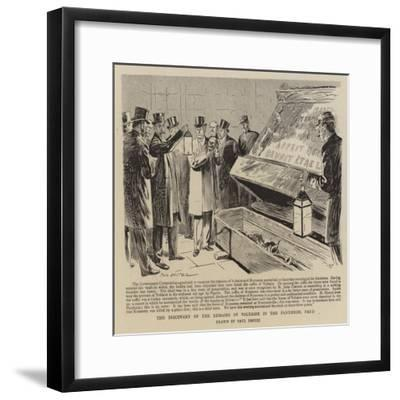 The Discovery of the Remains of Voltaire in the Pantheon, Paris-Paul Destez-Framed Giclee Print