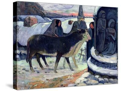 Christmas Night, C.1902-3-Paul Gauguin-Stretched Canvas Print