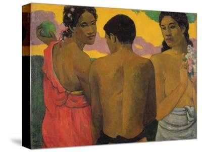 Three Tahitians, 1899-Paul Gauguin-Stretched Canvas Print