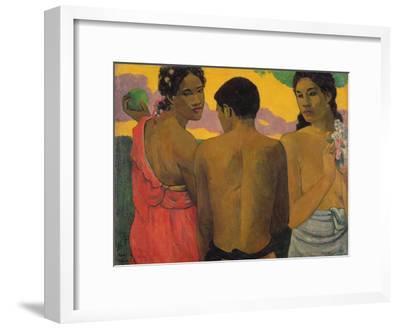 Three Tahitians, 1899-Paul Gauguin-Framed Giclee Print
