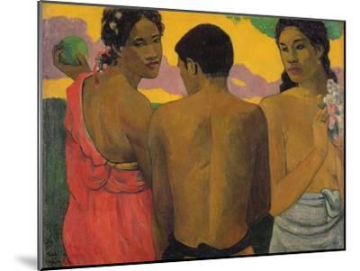 Three Tahitians, 1899-Paul Gauguin-Mounted Giclee Print
