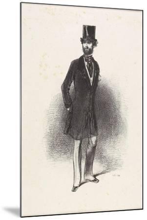 Costume D'Hiver, Par Humann, 1846-Paul Gavarni-Mounted Giclee Print