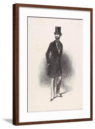 Costume D'Hiver, Par Humann, 1846-Paul Gavarni-Framed Giclee Print