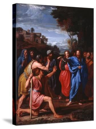 Christ Healing the Blind, 1682-Nicolas Colombel-Stretched Canvas Print