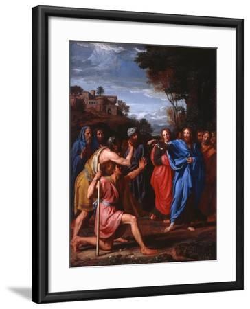 Christ Healing the Blind, 1682-Nicolas Colombel-Framed Giclee Print