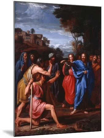 Christ Healing the Blind, 1682-Nicolas Colombel-Mounted Giclee Print