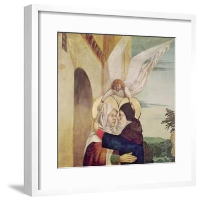 The Meeting of St. Anne and St. Joachim at the Golden Gate, C.1499-Nicolas d' Ypres-Framed Giclee Print