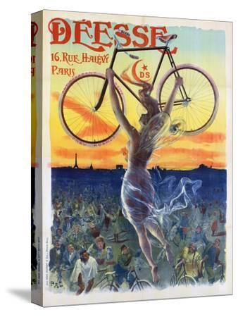 Vintage French Poster of a Goddess with a Bicycle, C.1898-Pal-Stretched Canvas Print