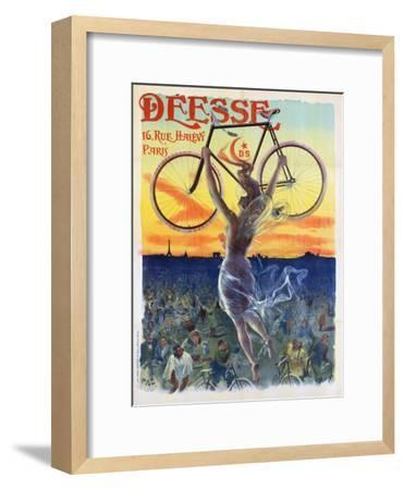 Vintage French Poster of a Goddess with a Bicycle, C.1898-Pal-Framed Premium Giclee Print